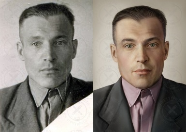 Colorization, restoration of black and white photo