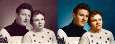 Colorization of an old family photo