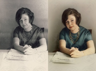 Old image colorization, increasing of  definition