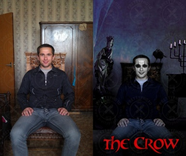 Photo stylization - The Crow movie character
