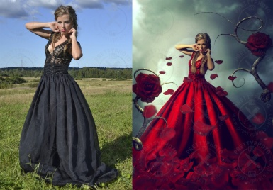 A girl in a dress - photo stylization