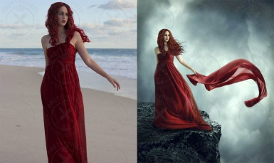 Photo stylization in a fairytale style