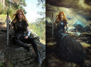 Art editing of a photo in a fantasy style