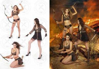 An example of photo stylization for advertising
