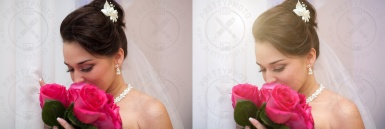 Professional wedding retouching